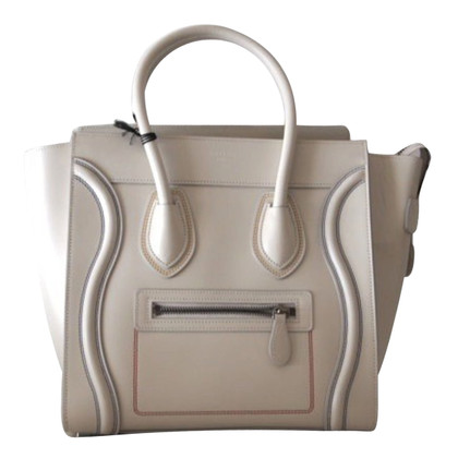 Céline Micro White Luggage