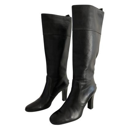 Tod's zwarte laarzen met hakken