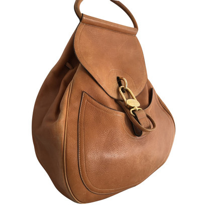 Delvaux Sac with cognac leather back