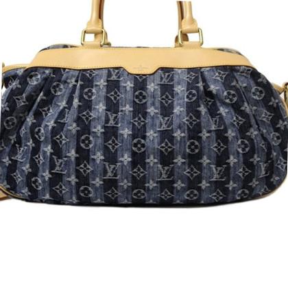 Louis Vuitton Denim Porte Epaule Cruise Raye Cabas GM