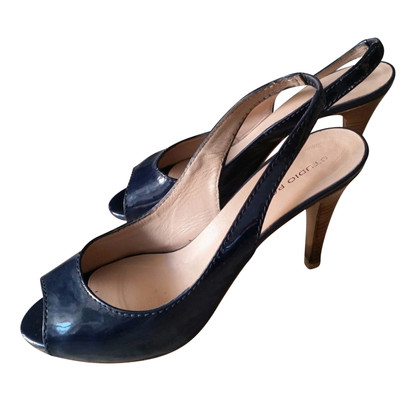 Pollini Blue painted leather shoes