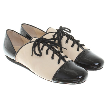 Walter Steiger Lace-up shoes in beige / black