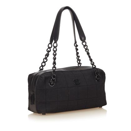 Chanel Choco Bar Canvas Shoulder Bag