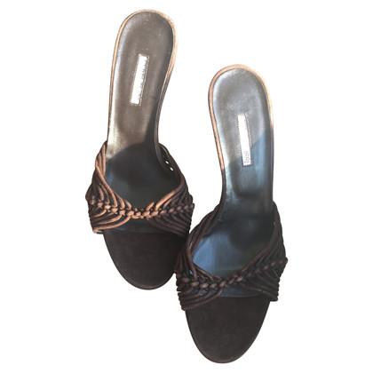 Cerruti 1881 Sandaletten aus Veloursleder