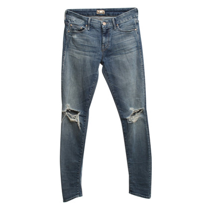 Mother Jeans in vernietigde blik