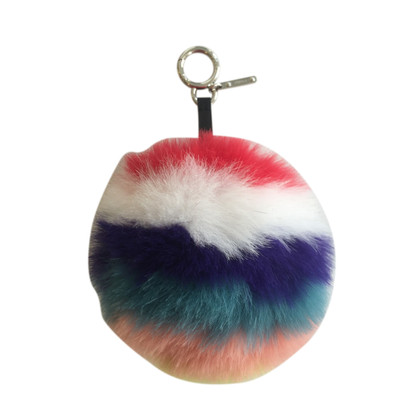 Fendi Pompon  in pellicia volpe  multicolore