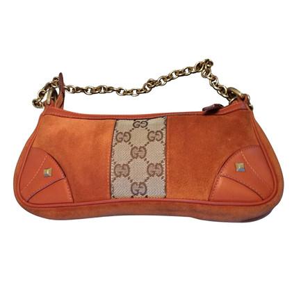 Gucci Oranje suède mini-bag