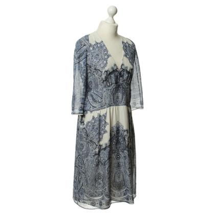 Etro zijden jurk patroon