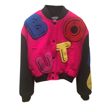 Moschino Patch on bomber jacket