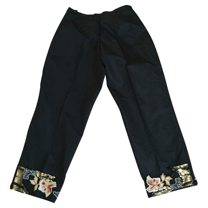 Blumarine Black 7/8 trousers
