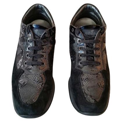 Hogan Chaussures en daim noir