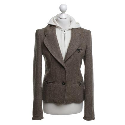 Woolrich Tweed Blazer In Brown
