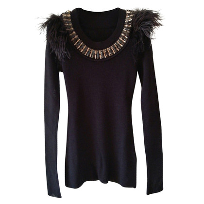 Sonia Rykiel Jersey with crystals and feathers