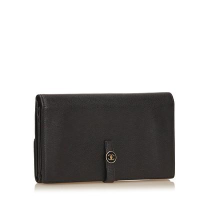 Chanel Portefeuille long en cuir