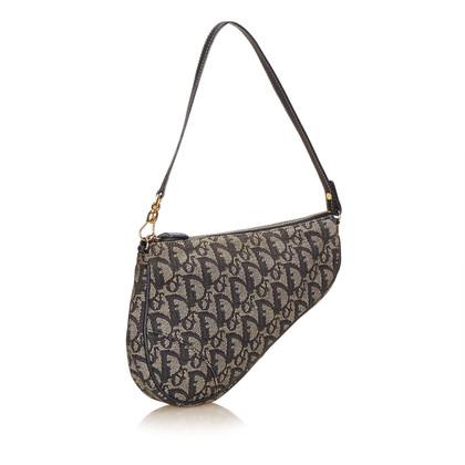 Christian Dior Jacquard Saddle Shoulder Bag