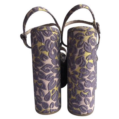 Miu Miu Kleurrijke jacquard Miu Miu sandalen