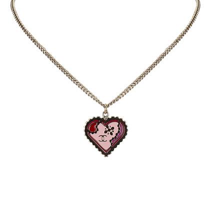 Chanel Herz Anhänger Halskette