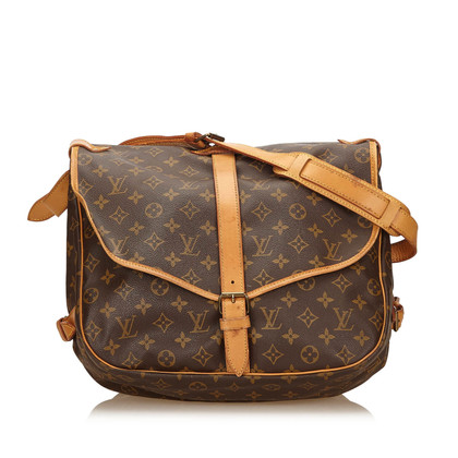 "Louis Vuitton ""Saumur 35"" Monogram Canvas"