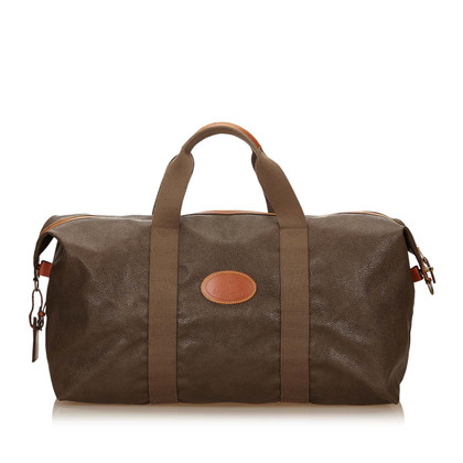 Mulberry Textured Leather Duffel Bag