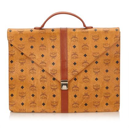 MCM Visetos Leren Briefcase
