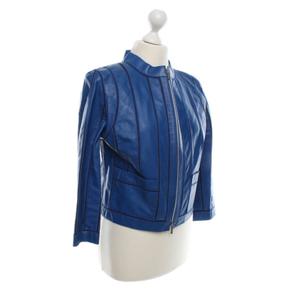 Loewe Leather Jacket in Blauw