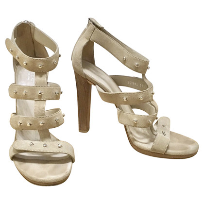 Gucci Beige suède sandalen