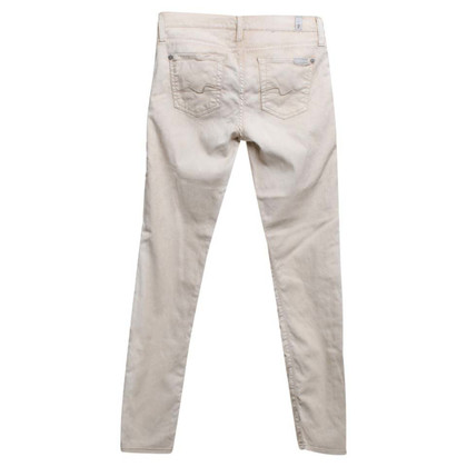 7 For All Mankind Skinny Jeans in Beige