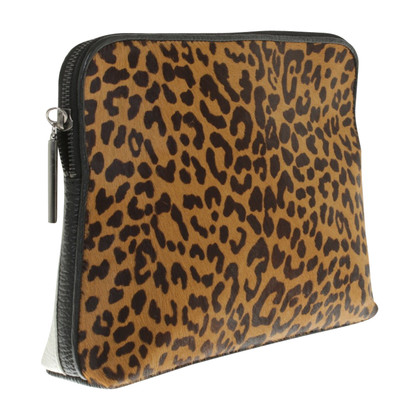 Phillip Lim clutch with leopard pattern