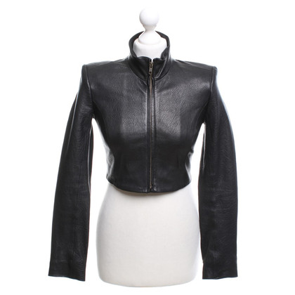 Theyskens' Theory Lederjacke in Schwarz