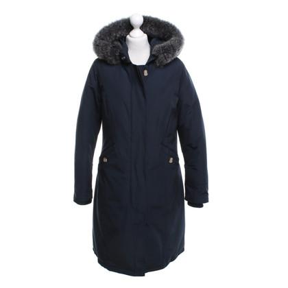 Woolrich cappotto giù con bordo in pelliccia