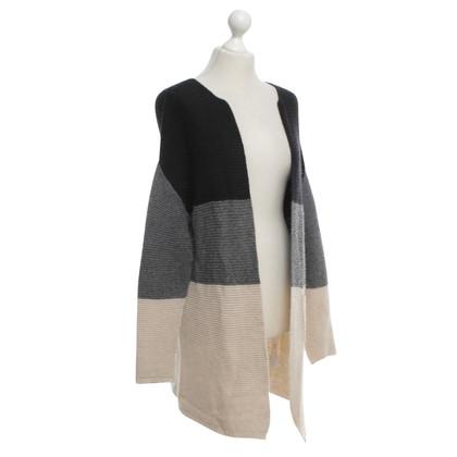 Twin-Set Simona Barbieri Knitted coat with stripes