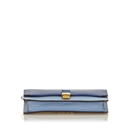 Günstig Kaufen 100% Original Spielraum Zuverlässig Miu Miu Leder Umhängetasche Blau Rabatt Heißen Verkauf Wiki Verkauf Online Fm57TdP