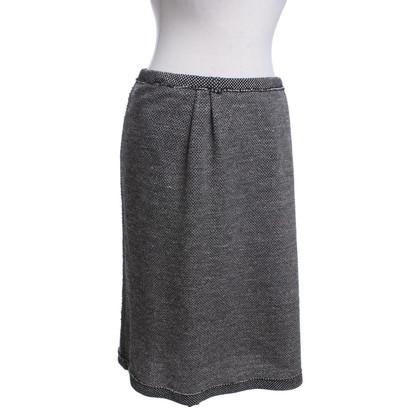 Yves Saint Laurent skirt in black and white
