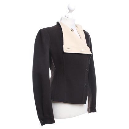 Giorgio Armani Chesty jacket in dark brown