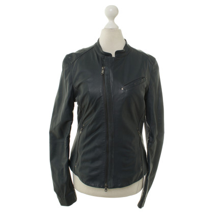 Diesel Black Gold Leather jacket in blue