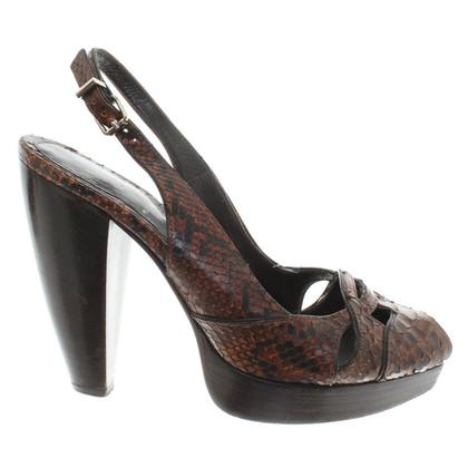 Fendi Sandalen Python Leather