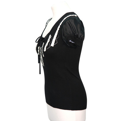 Karen Millen Knitted top in black