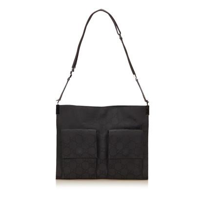 Gucci Guccissima nylon schouder tas