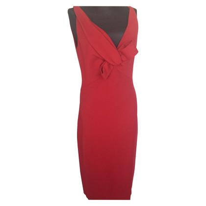 Dsquared2 abito rosso midi in lana