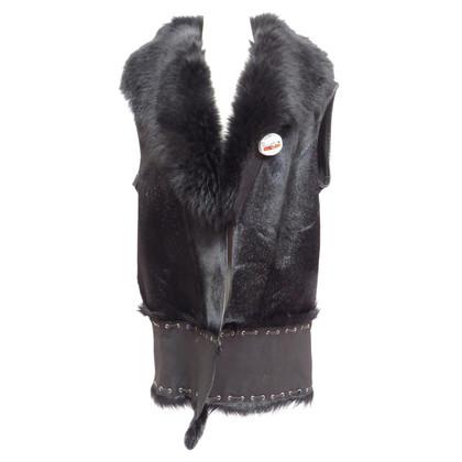 Other Designer Calfskin vest with fox collar