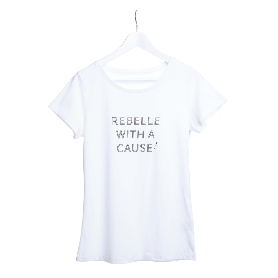 rebelle charity t shirt rebelle with a cause buy. Black Bedroom Furniture Sets. Home Design Ideas