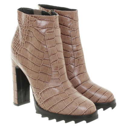 Dorothee Schumacher Ankle boots with reptile embossing