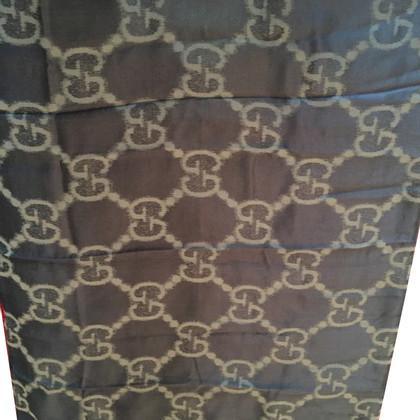 Gucci Gucci silk blend scarf charcoal/grey