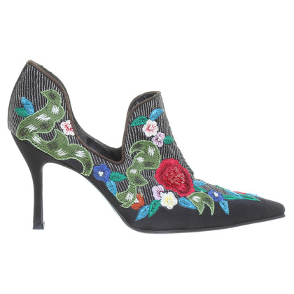 René Caovilla Pumps mit Stickerei