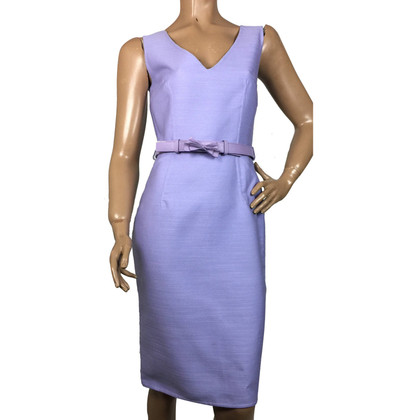 Christian Dior Wool/silk dress with leather belt