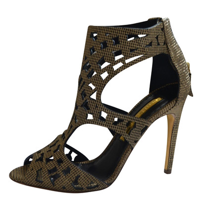 Rupert Sanderson  Gold High Heel caged sandals