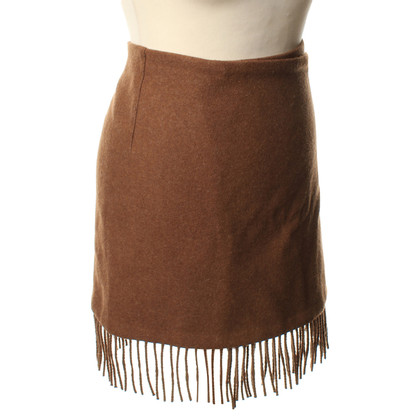 Etro Wool skirt in Brown