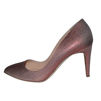 Rupert Sanderson Pink Nada Ferrari Glitter Pumps Mid Heel