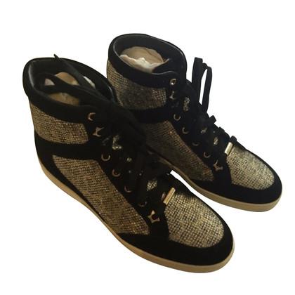 Jimmy Choo Leopard Print Glitter Sneaker