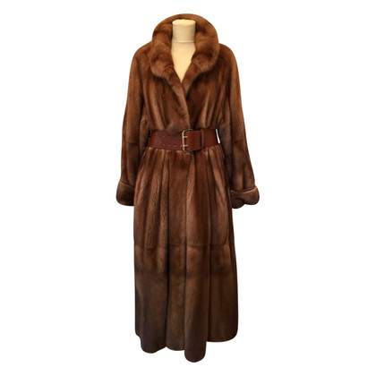Fendi Mink coat hazelnut brown